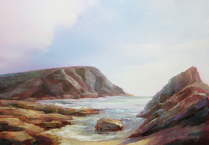 Dollar Cove, The Lizard  - painting by Jerry Smith