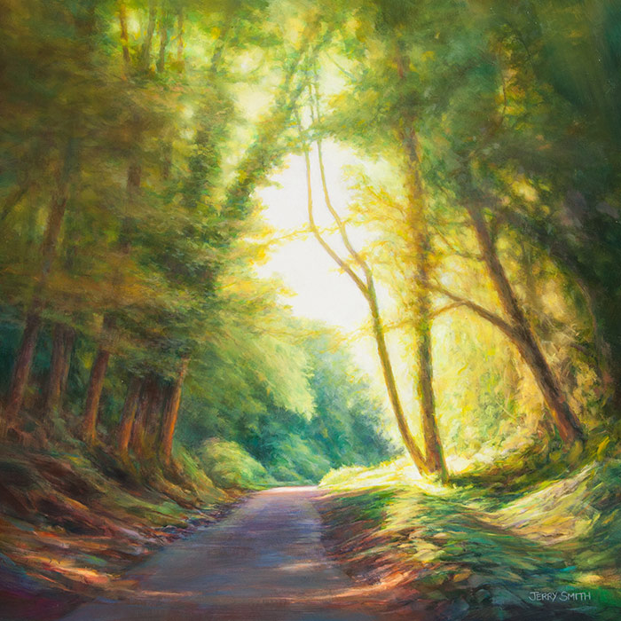 Meon Valley Trail  - painting by Jerry Smith