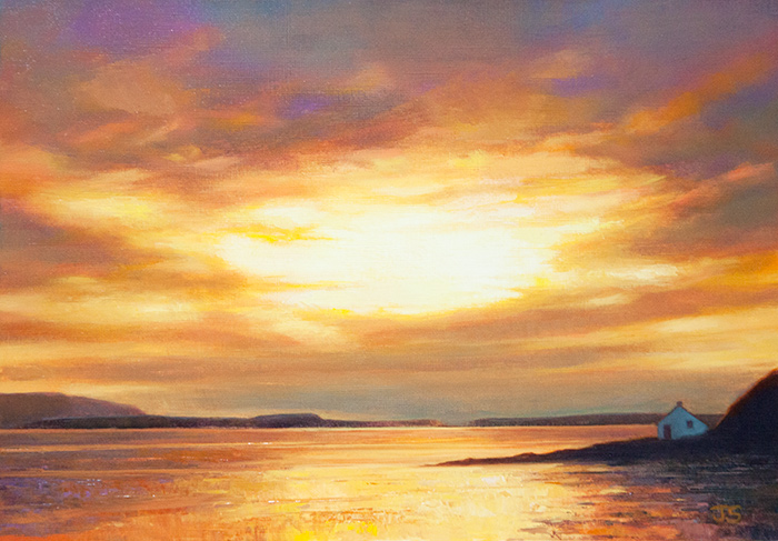 Sunset at Stein  - painting by Jerry Smith