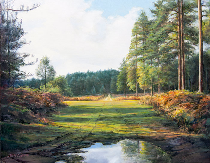 Knightwood Inclosure, New Forest  - painting by Jerry Smith