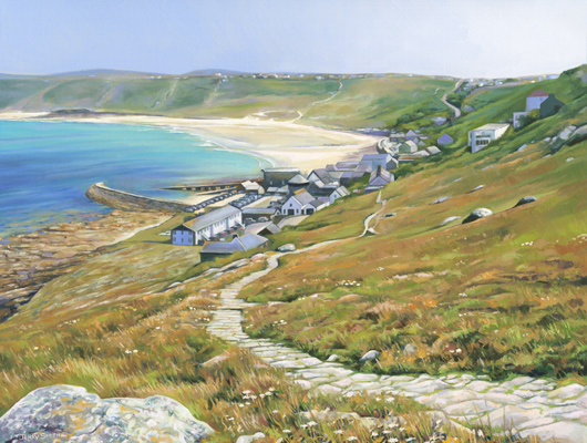 Sennen Cove  - painting by Jerry Smith
