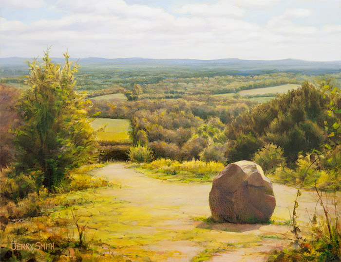 View from the Poet's Stone  - painting by Jerry Smith