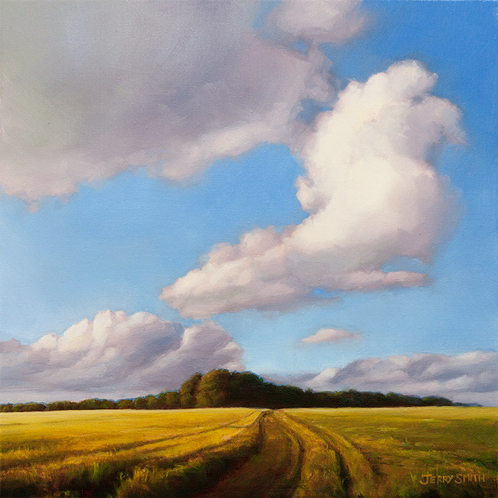 Evening clouds  - painting by Jerry Smith