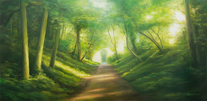 Meon Valley Trail Blazing  - painting by Jerry Smith