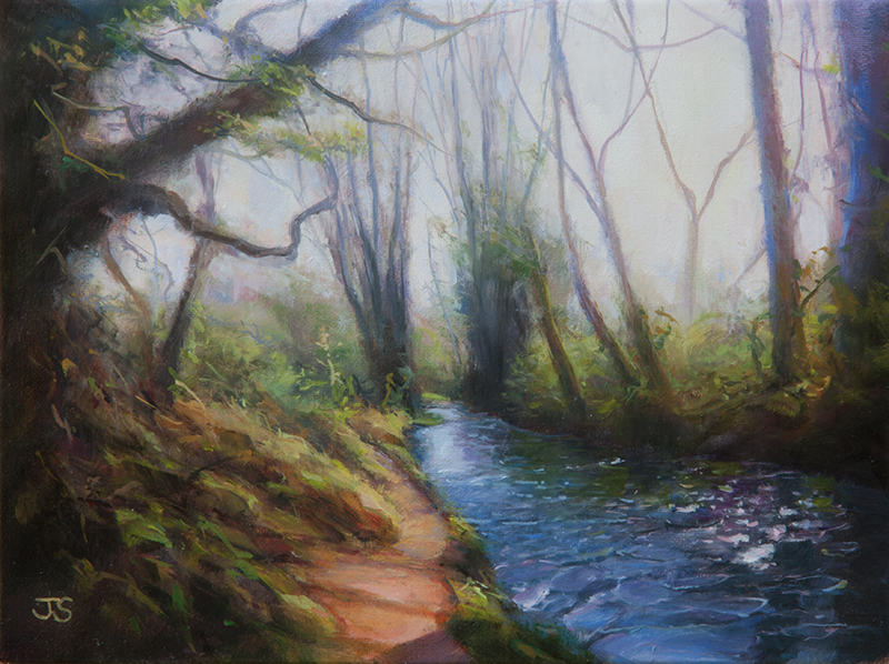 Meon River - original painting by Jerry Smith