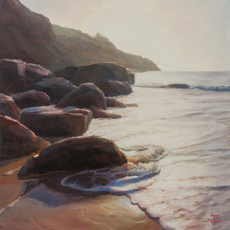Housel Bay Rocks - original painting by Jerry Smith