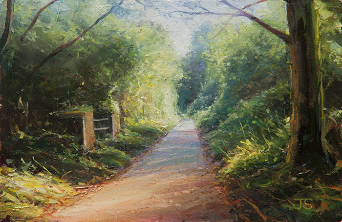 Meon Valley Trail - original painting by Jerry Smith