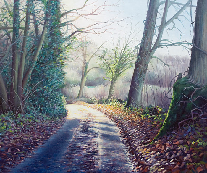Damson Hill, Dundridge - original painting by Jerry Smith