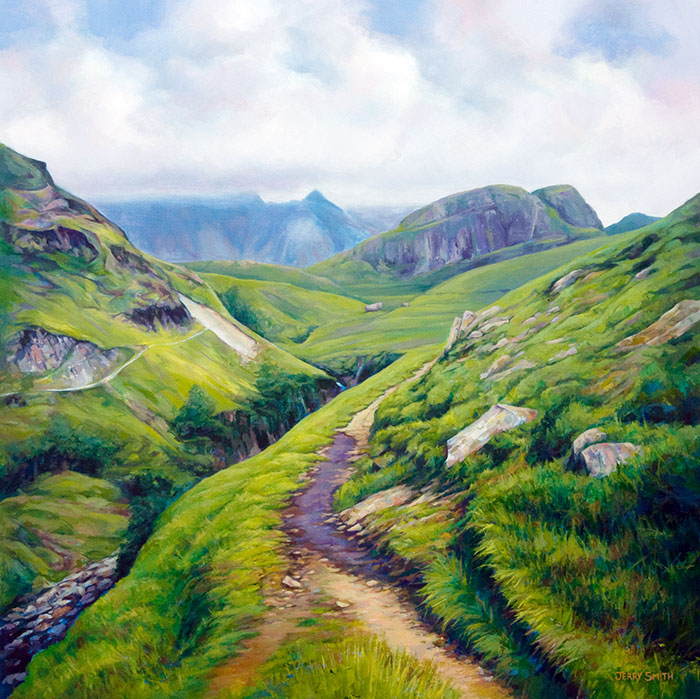 Approaching Upper Eskdale  - painting by Jerry Smith