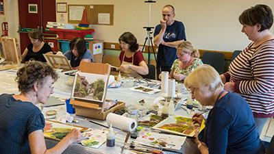 Art classes at Swanmore Village Hall